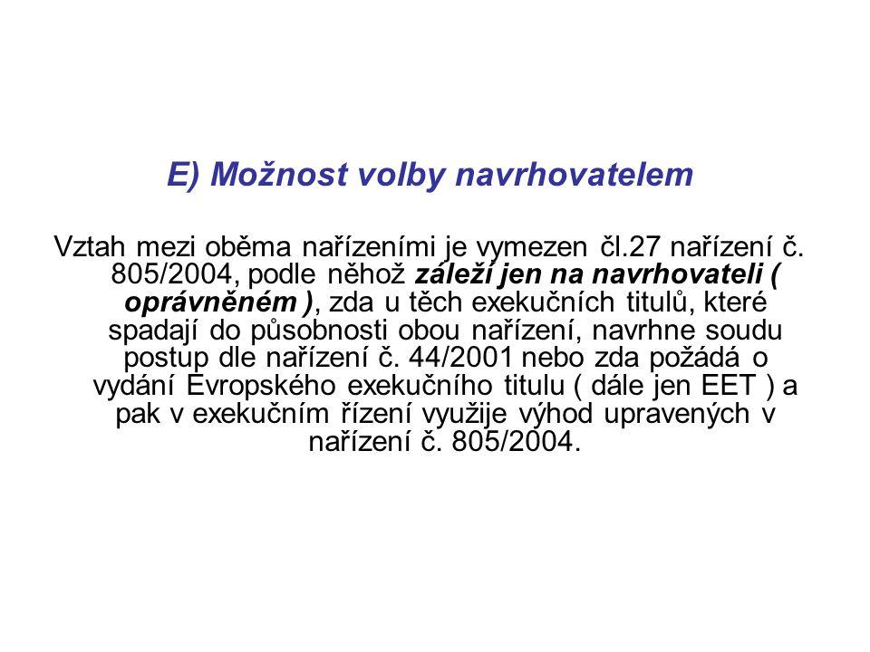 Ústavní soud, sp.zn. ÚS 709/05: Nařízení Rady (ES) č.