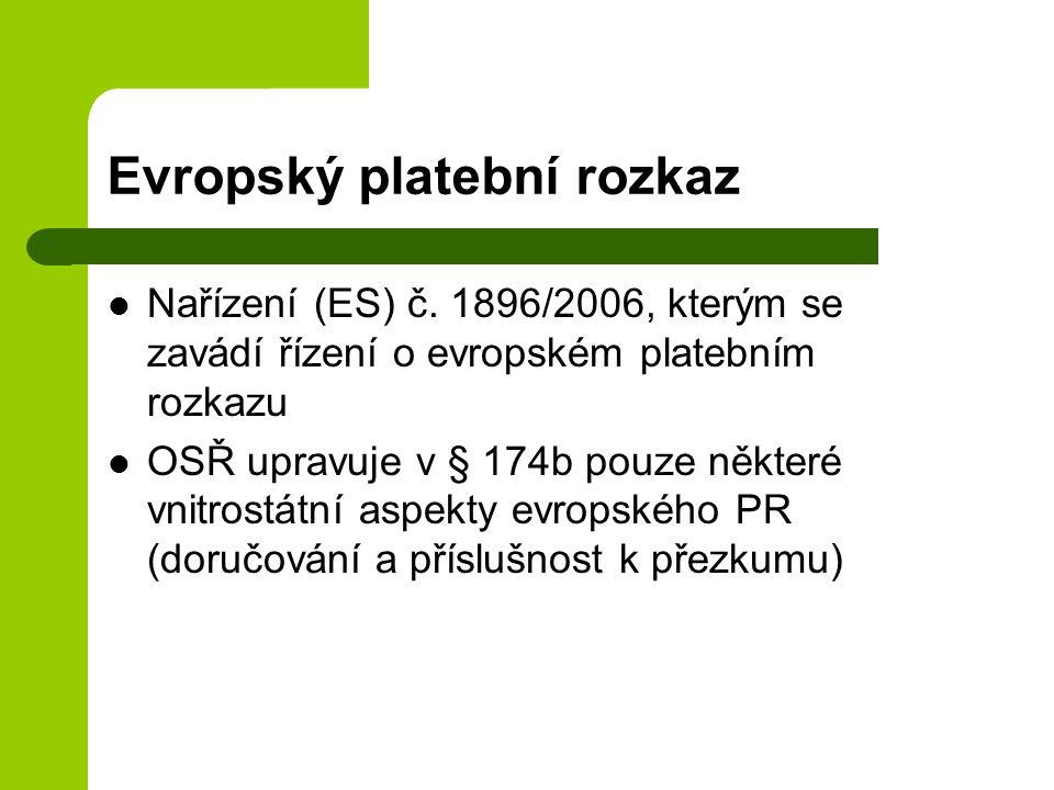 Evropský platební rozkaz Nařízení (ES) č.