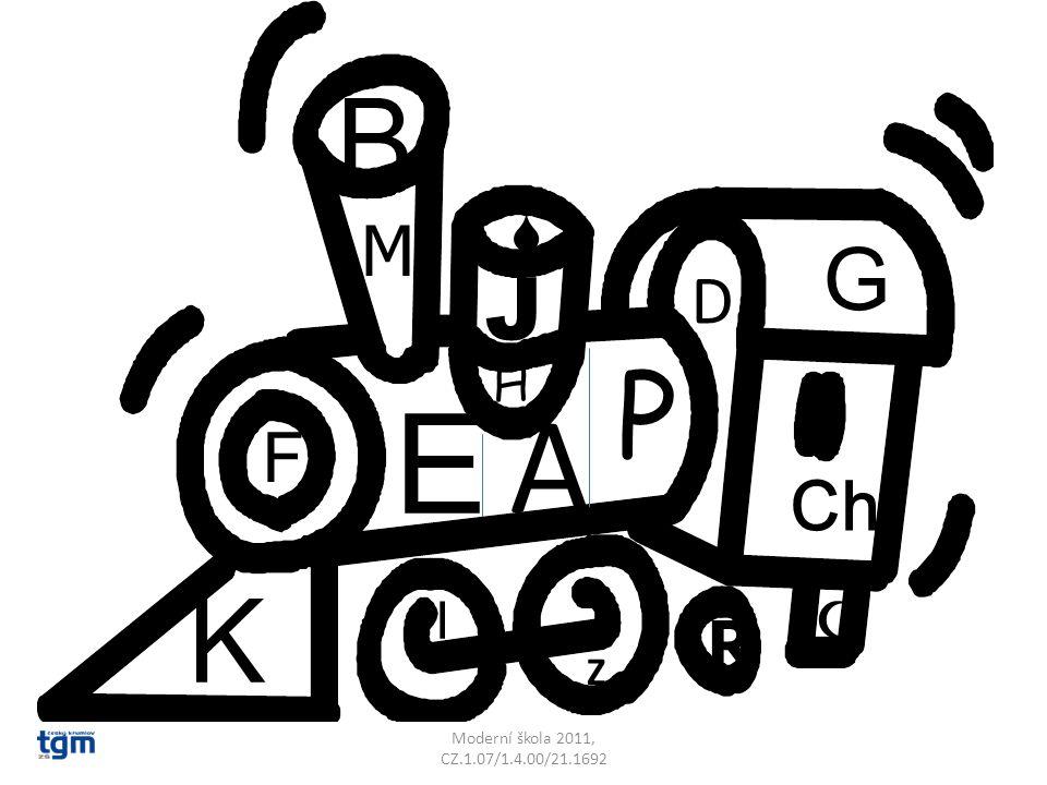 E A B M D F G Ch I J K P H Z S R Moderní škola 2011, CZ.1.07/1.4.00/21.1692 Z