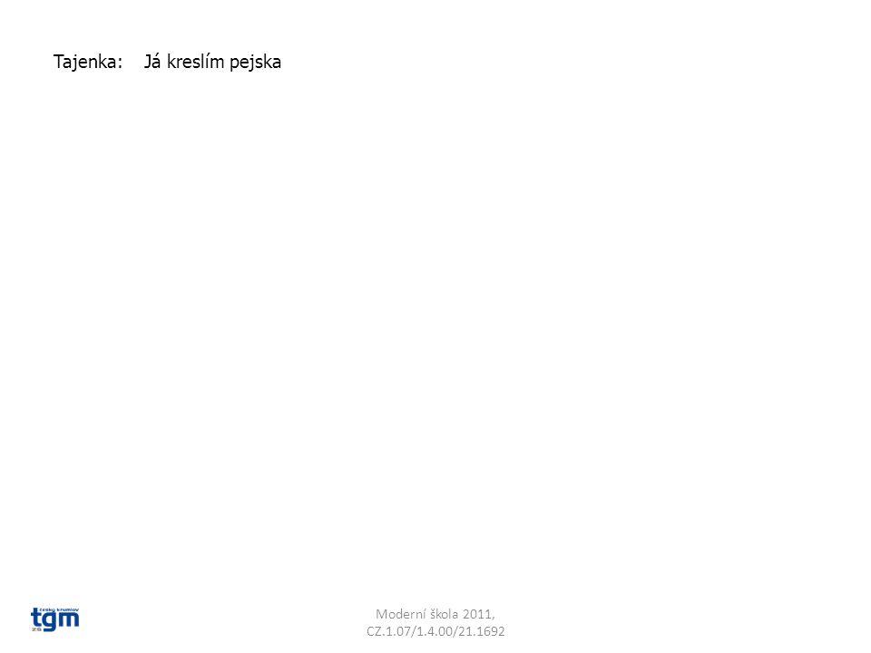 Moderní škola 2011, CZ.1.07/1.4.00/21.1692 Tajenka: Já kreslím pejska