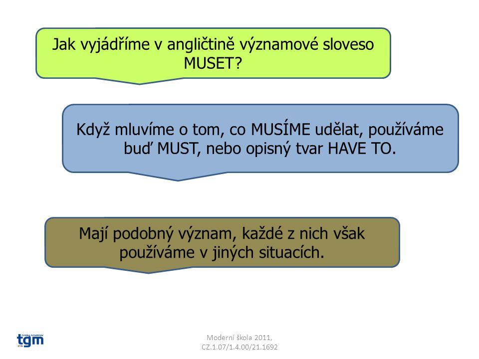 Jak vyjádříme v angličtině významové sloveso MUSET.