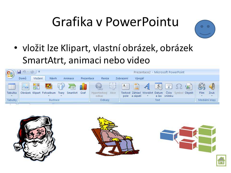 Text v prezentaci Pomocí Textového pole na kartě Domů – ve skupině Kreslení Můžeme formátovat text, výplň, obrys, přidávat efekty. Můžeme textové pole