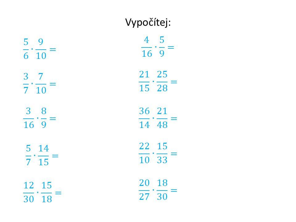 Násobení smíšených čísel Smíšené číslo převedeme na zlomek.