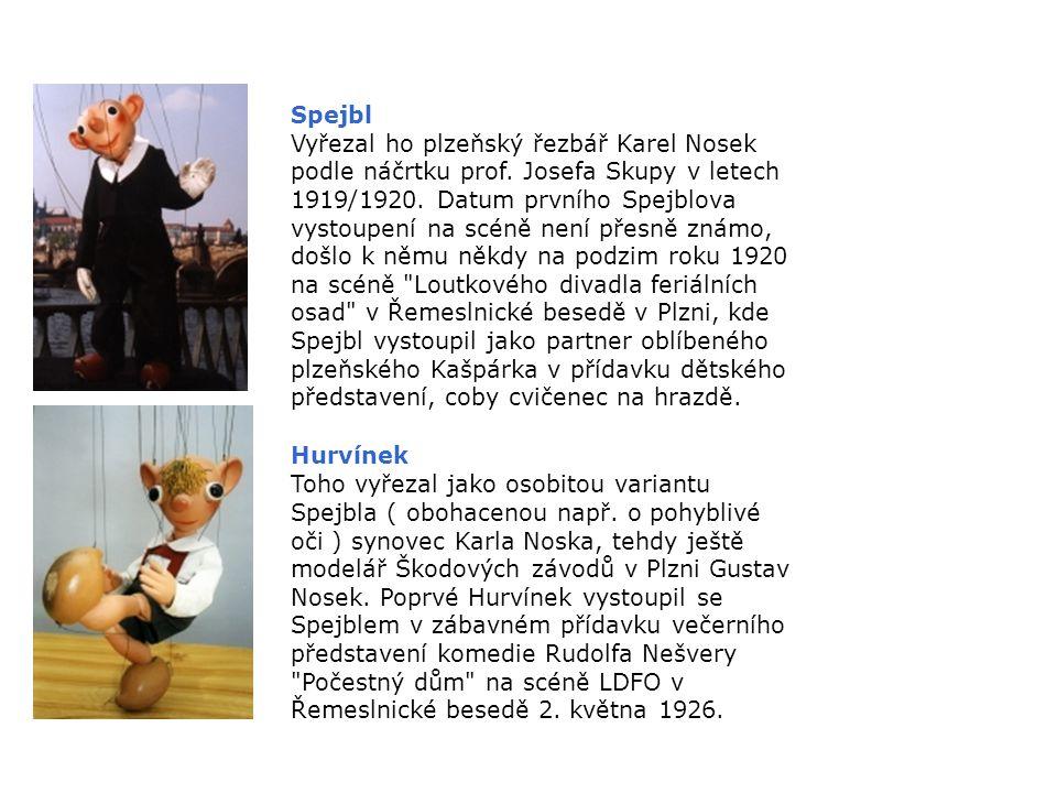 Josef Skupa ( 16.1.1892, Strakonice 8.1.1957, Praha ) Loutkář, autor, režisér, výtvarník a herec loutkového divadla, původně profesor matematiky a kre