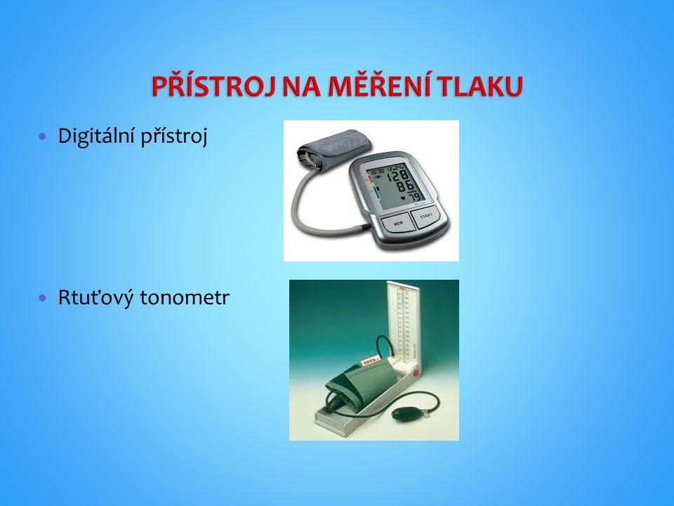 Digitální přístroj Rtuťový tonometr