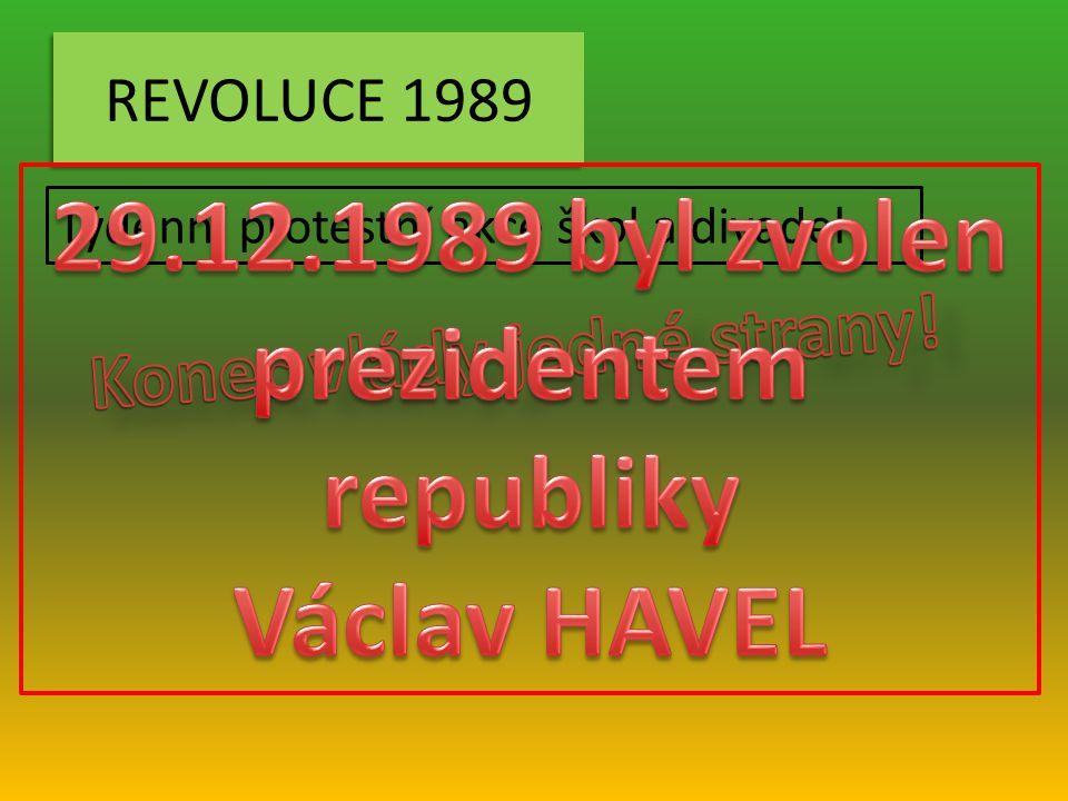 REVOLUCE 1989 Týdenní protestní akce škol a divadel