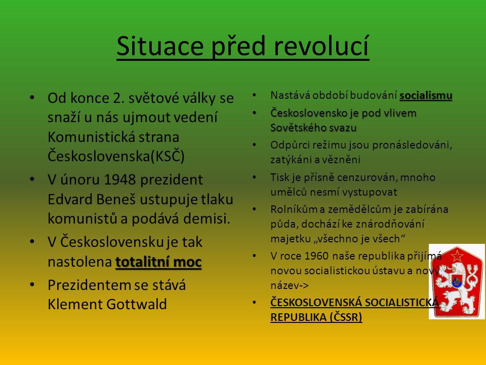 Situace před revolucí Od konce 2.