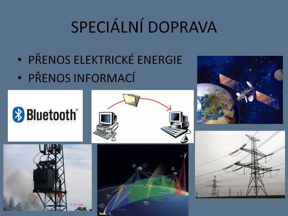 SPECIÁLNÍ DOPRAVA PŘENOS ELEKTRICKÉ ENERGIE PŘENOS INFORMACÍ