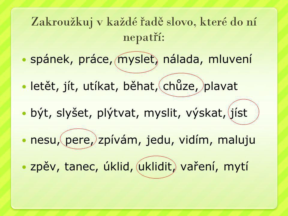 A nakonec úkol pro bystré hlavi č ky – vypátrej p ř ísloví a najdi v n ě m všechna slovesa: Kdo jinému sám do ní P_ _Á.