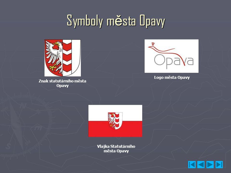 Symboly města Opavy Znak statutárního města Opavy Logo města Opavy Vlajka Statutárního města Opavy