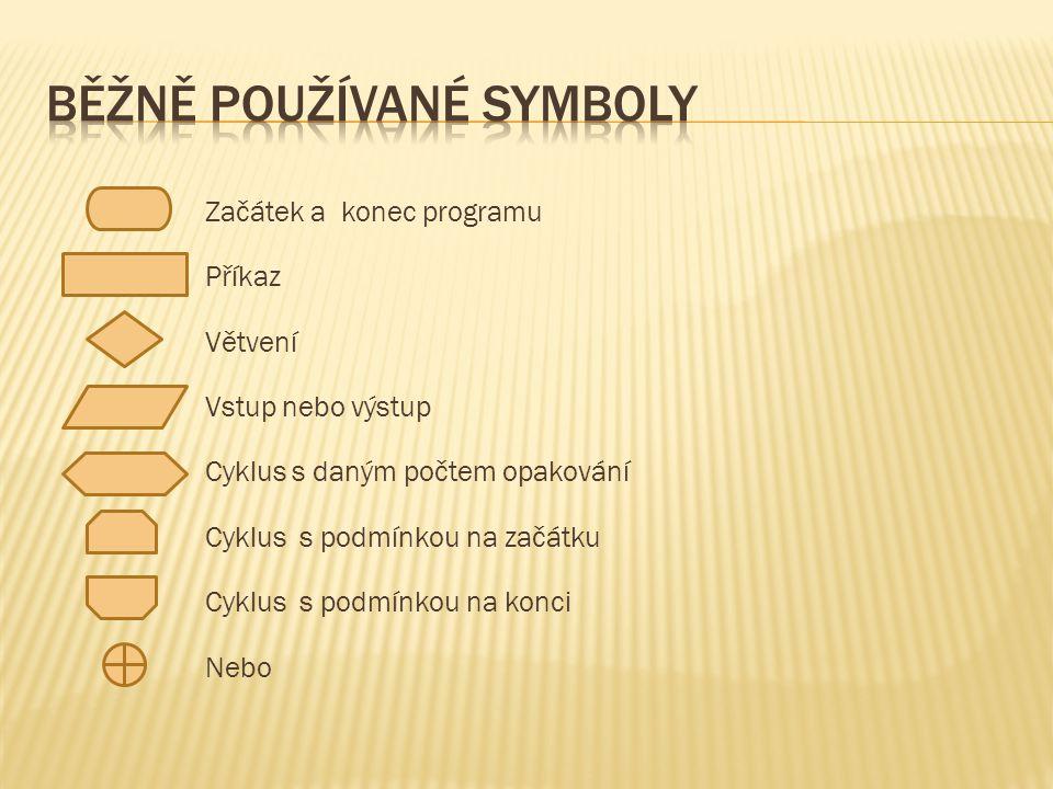  Posloupnost příkazů, které se postupně provedou  Proveď příkazy P1, P2, P3.