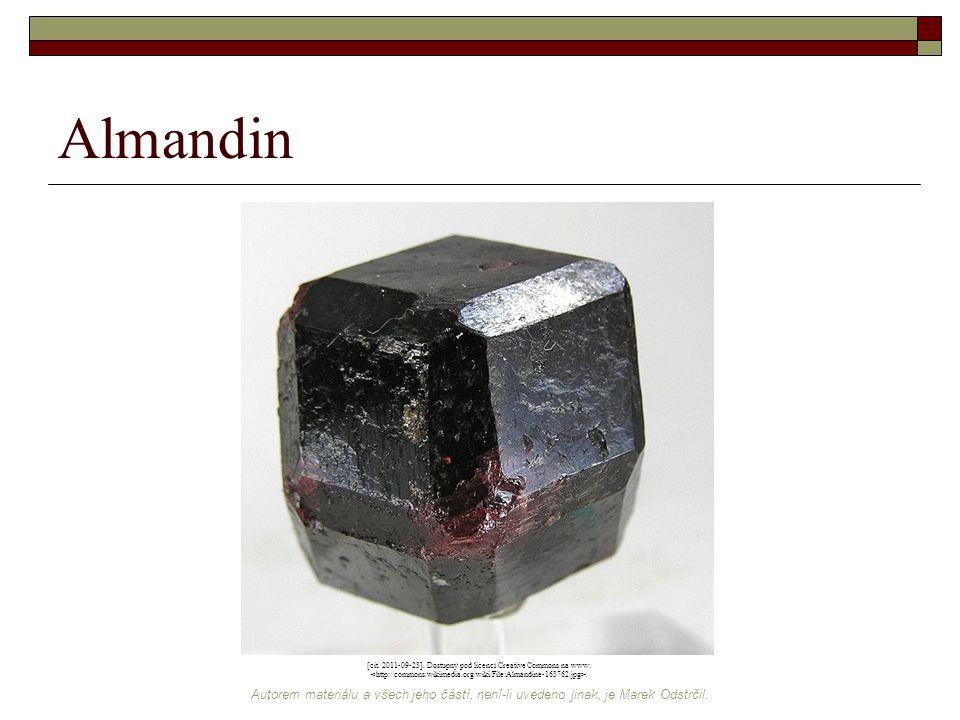 Autorem materiálu a všech jeho částí, není-li uvedeno jinak, je Marek Odstrčil. Almandin [cit. 2011-09-23]. Dostupný pod licencí Creative Commons na w