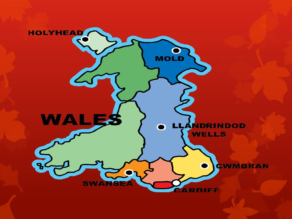 Most of Wales is covered by mountains.