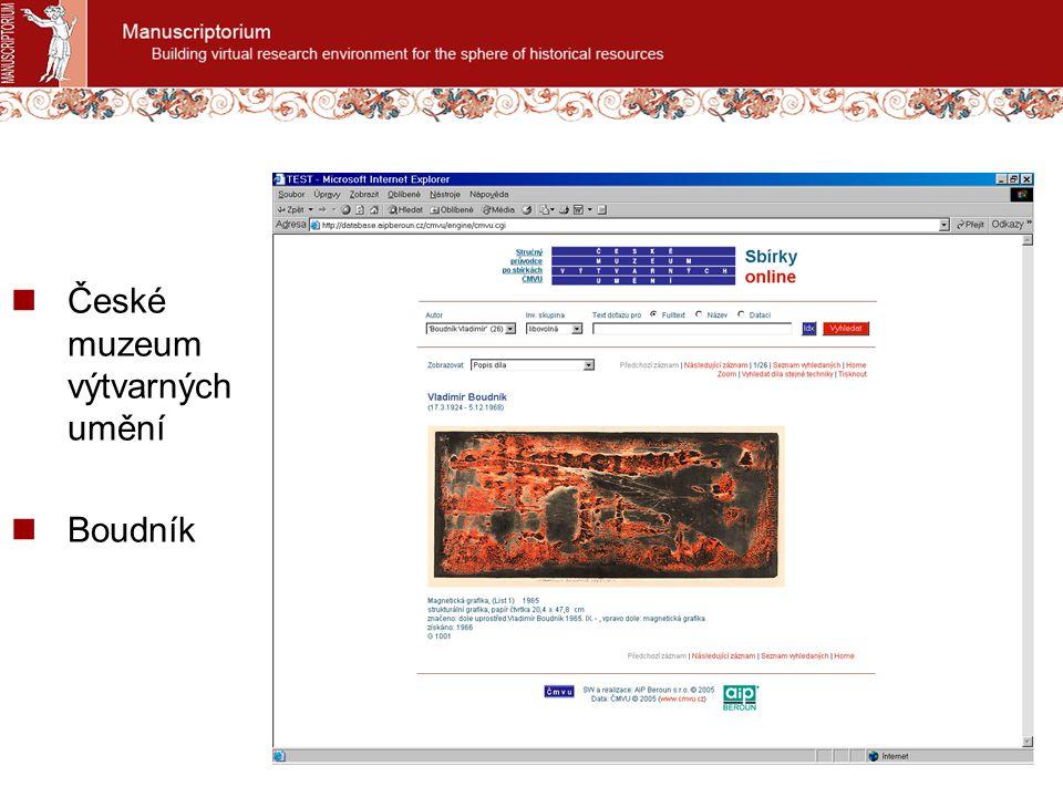 České muzeum výtvarných umění Boudník