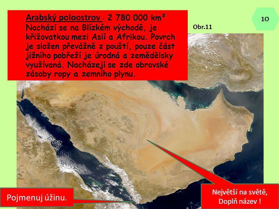 Největší na světě, Doplň název ! Arabský poloostrov - 2 780 000 km² Nachází se na Blízkém východě, je křižovatkou mezi Asií a Afrikou. Povrch je slože