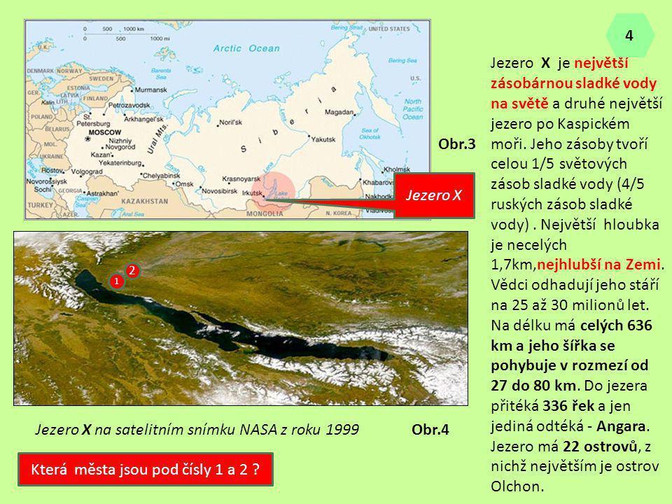 Jezero X na satelitním snímku NASA z roku 1999 Jezero X Jezero X je největší zásobárnou sladké vody na světě a druhé největší jezero po Kaspickém moři