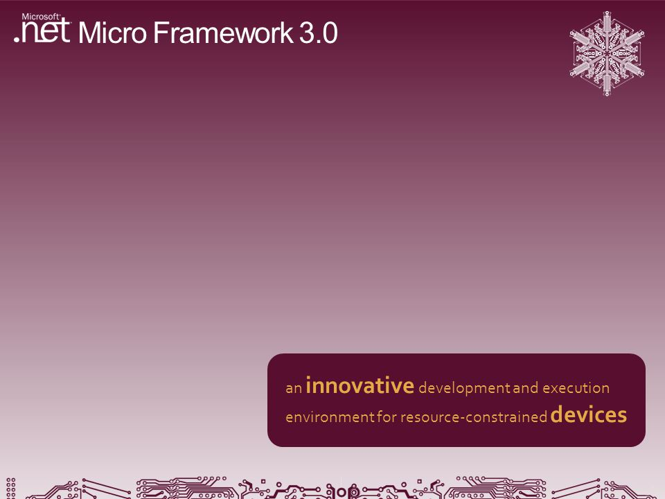 Micro Framework 3.0 an innovative development and execution environment for resource-constrained devices