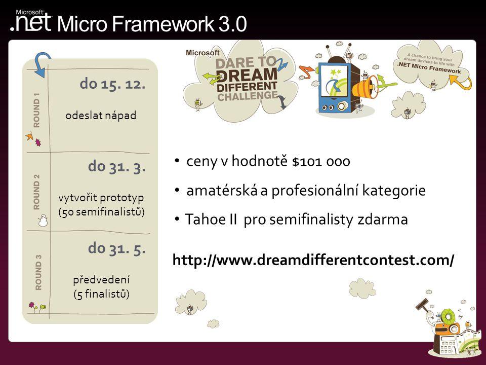 Micro Framework 3.0 do 15. 12. odeslat nápad do 31.