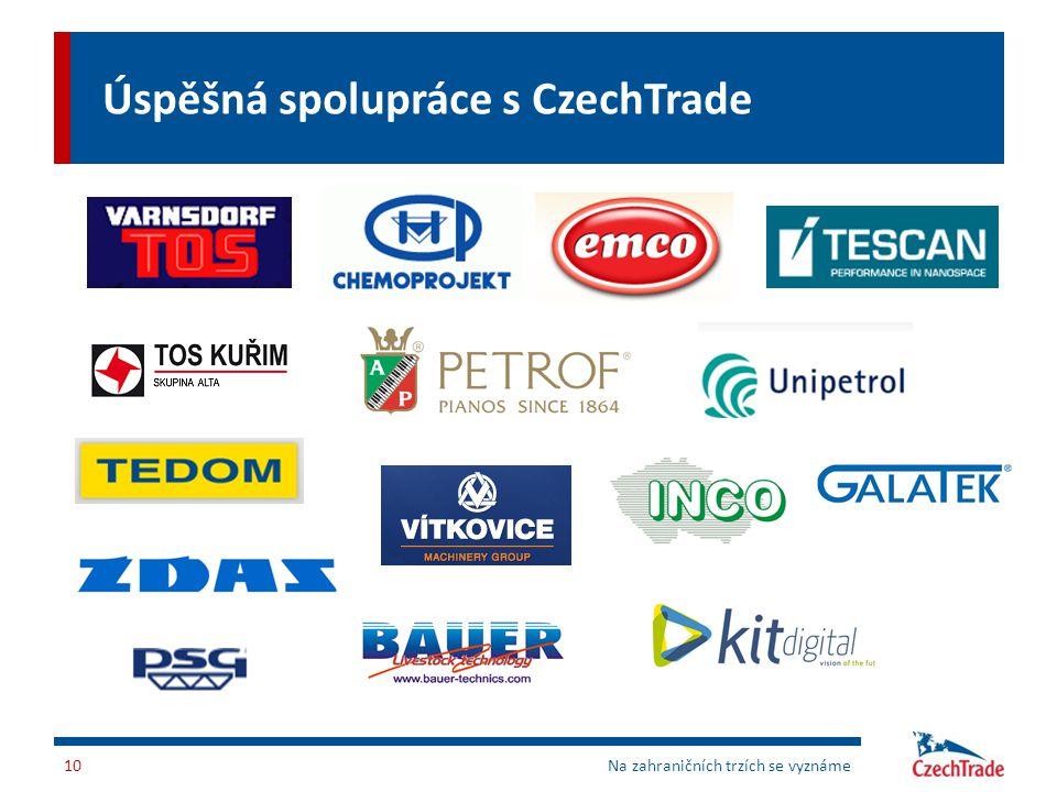 Úspěšná spolupráce s CzechTrade 10Na zahraničních trzích se vyznáme