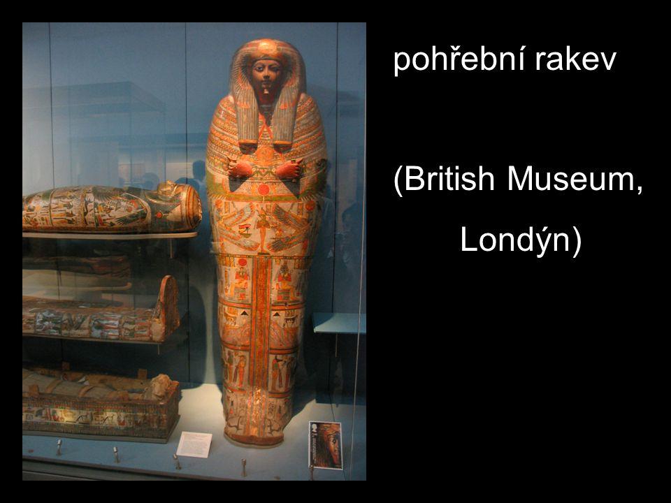 pohřební rakev (British Museum, Londýn)