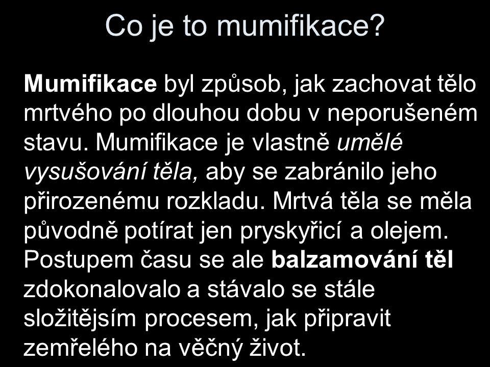 Co je to mumifikace.
