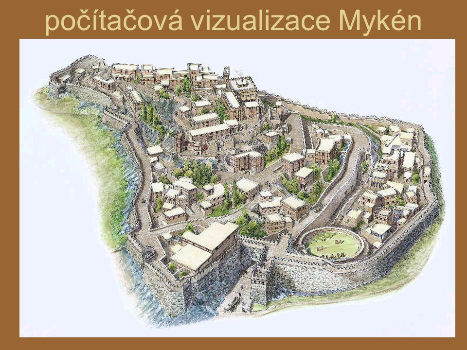 počítačová vizualizace Mykén