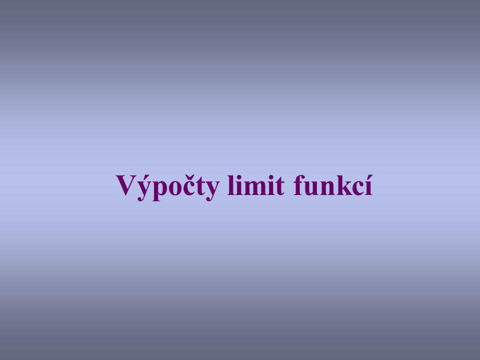 Výpočty limit funkcí