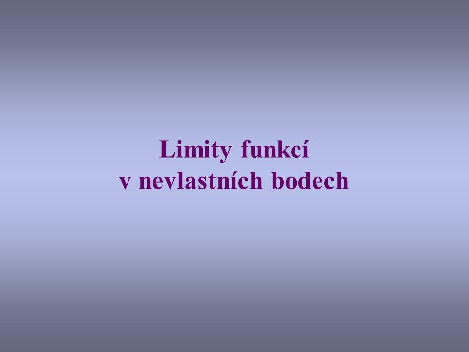 Limity funkcí v nevlastních bodech