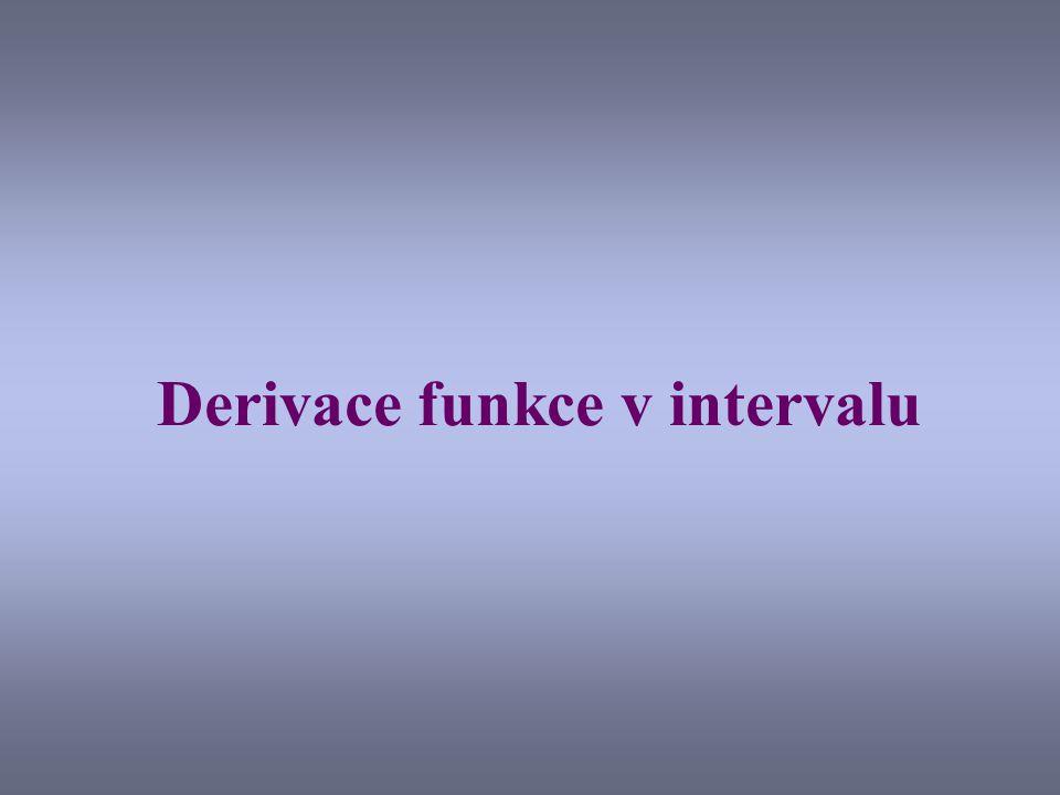 Derivace funkce v intervalu