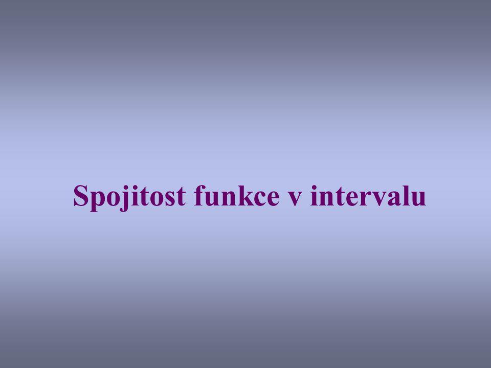 Spojitost funkce v intervalu
