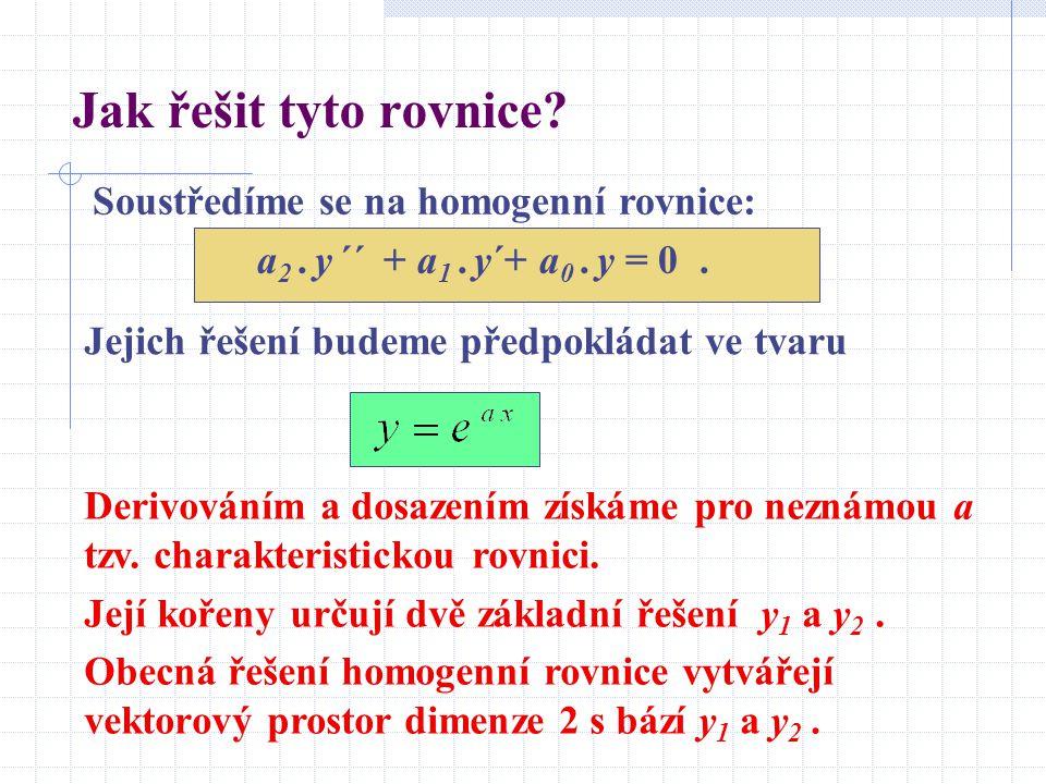 Jak řešit tyto rovnice.Soustředíme se na homogenní rovnice: a 2.
