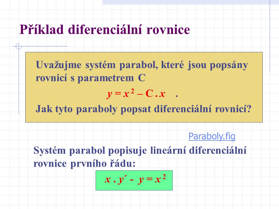 Obecné řešení diferenciální rovnice Příslušná homogenní rovnice je: Separací proměnných získáme: Obecné řešení tedy je: Předpoklad pro variaci: Funkce K(t) má tvar: