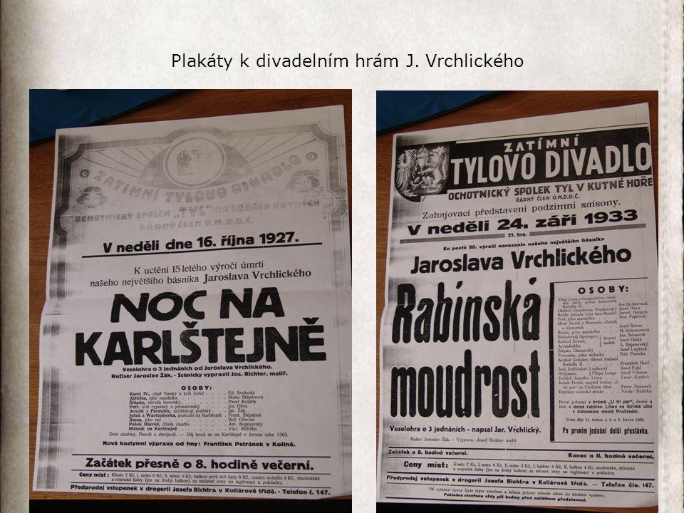 Plakáty k divadelním hrám J. Vrchlického