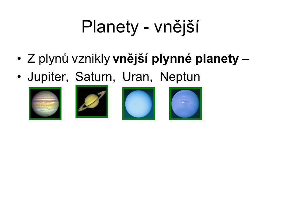 Další tělesa Sluneční soustavy Komety = tělesa která obíhají kolem hvězdy(=Slunce) po velmi protáhlých drahách, mají jádro z prachu a ledu a ocas, který vždy směřuje od hvězdy Halleyova kometa - můžeme ji spatřit jednou za 76 let SP: Halleyova kometa byla naposledy spatřena v roce 1986.