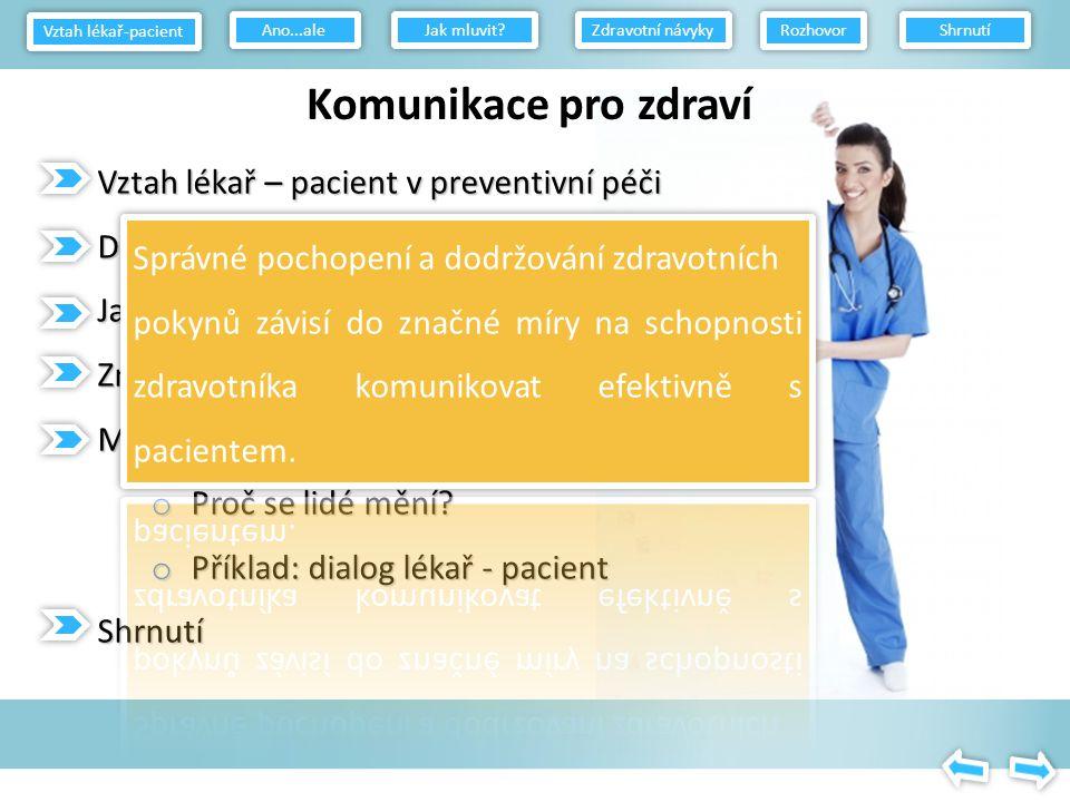 Efektivní komunikační dovednosti pro zdravotníky