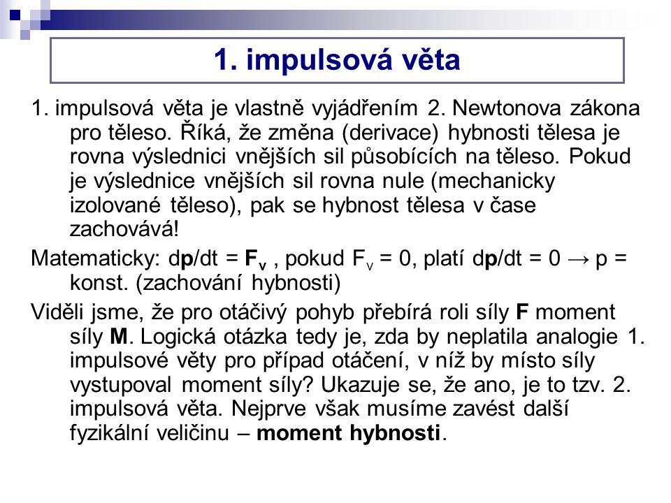 1.impulsová věta 1. impulsová věta je vlastně vyjádřením 2.