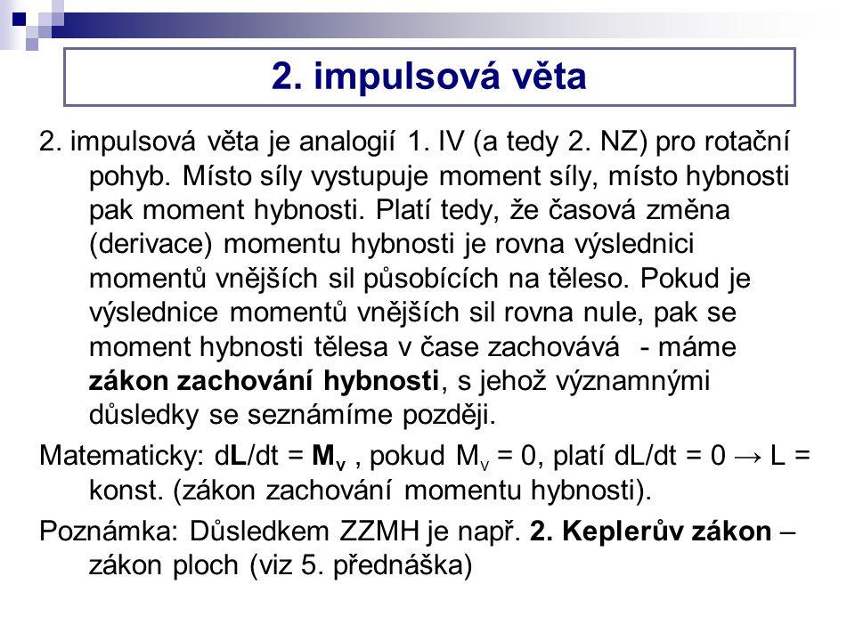 2.impulsová věta 2. impulsová věta je analogií 1.