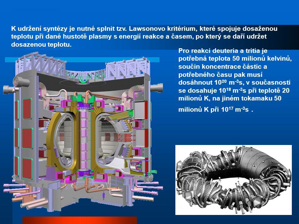 laboratorní metody k získání řízené termonukleární reakce: a) metoda tokamaků (ТOроидная КАмера МАгнитная)