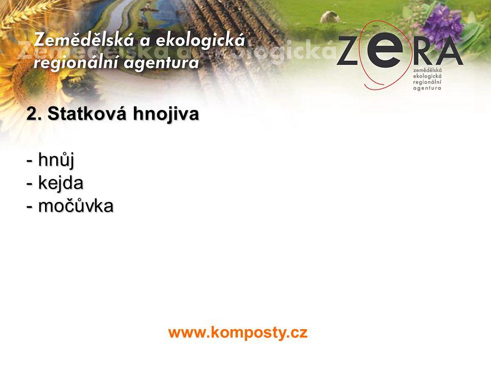 www.komposty.cz 2. Statková hnojiva - hnůj - kejda - močůvka