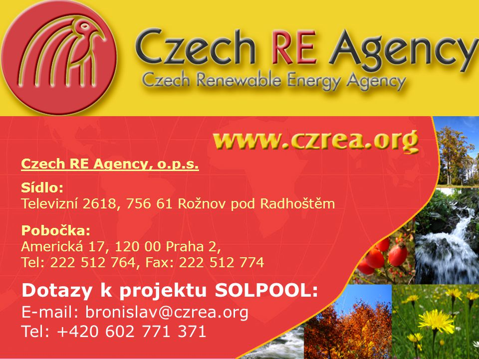 www.solpool.info Folie 52 Czech RE Agency, o.p.s.