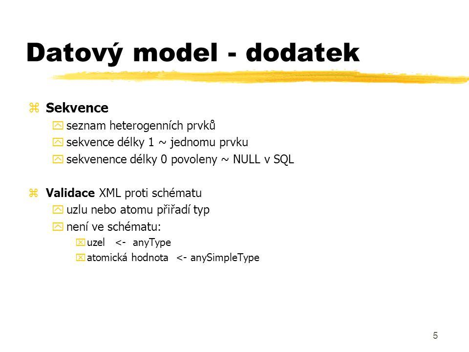 6 Datový model - příklad