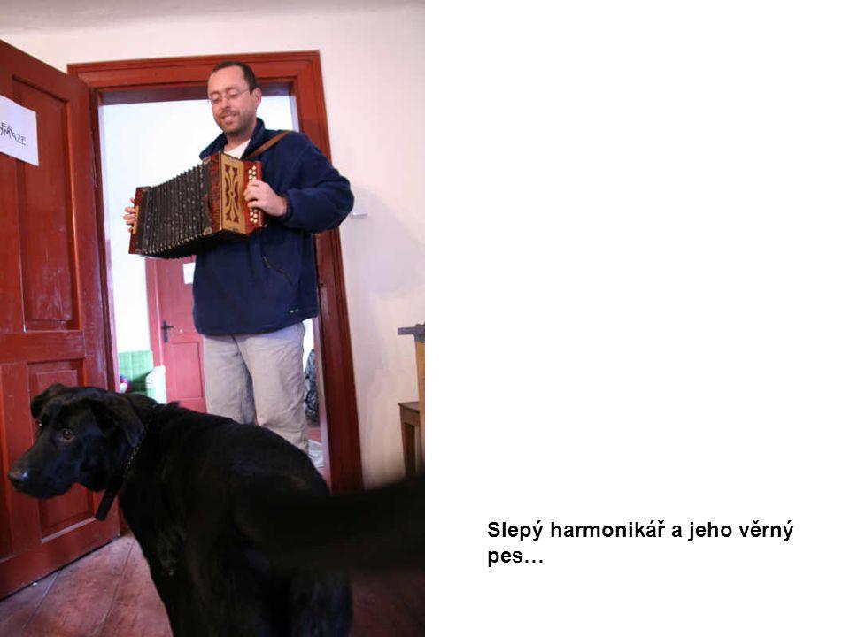 Slepý harmonikář a jeho věrný pes…