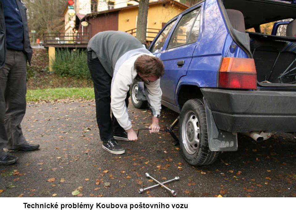 Technické problémy Koubova poštovního vozu