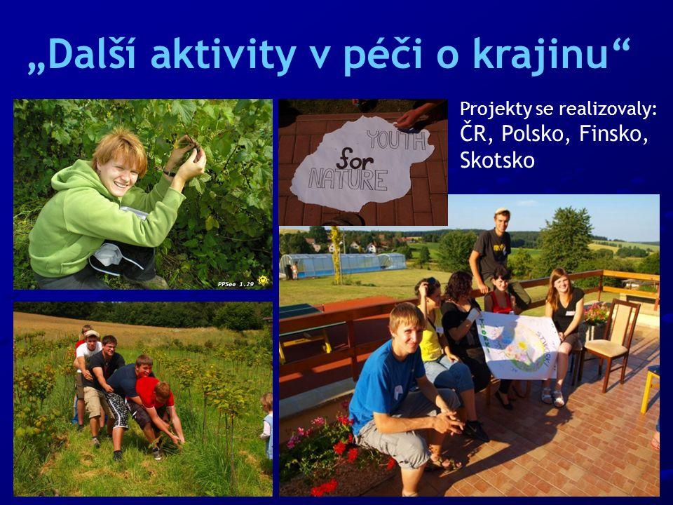 Projekty se realizovaly: ČR, Polsko, Finsko, Skotsko