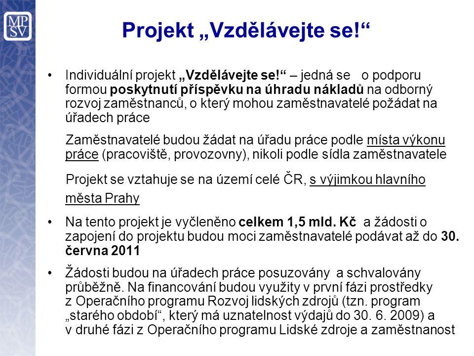 """Projekt """"Vzdělávejte se! Dohoda - vybrané povinnosti zaměstnavatele : - uzavřít dohody se zaměstnanci a předat je ÚP - stanovit studijní povinnosti, vést evidenci apod."""