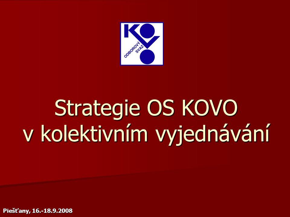 Strategie OS KOVO v kolektivním vyjednávání Piešťany, 16.-18.9.2008