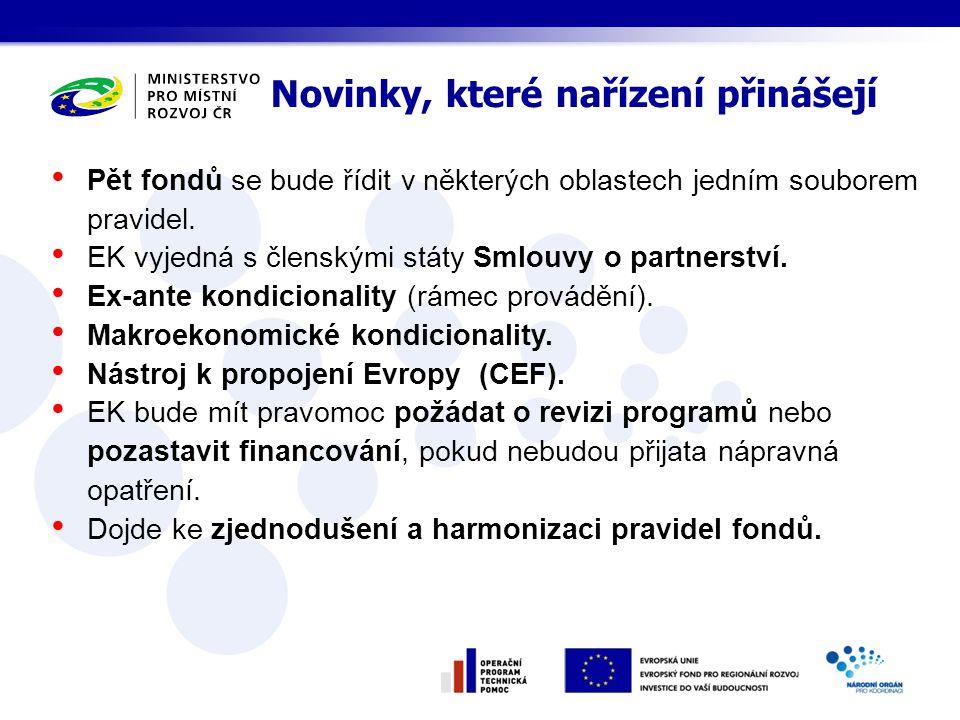 ČR podporuje: adekvátně financovanou politiku soudržnosti strategický přístup k politice soudržnosti a její významný příspěvek k naplňování cílů Strategie Evropa 2020 zvýšení výkonnosti a efektivity politiky soudržnosti se zaměřením na prokazování jejich výsledků pro občany EU zachování Fondu soudržnosti jako osvědčeného a klíčového nástroje pro financování infrastruktury v méně vyspělých členských státech EU flexibilitu u pravidel pro rušení závazků při respektování řádného finančního řízení a finanční disciplíny geografickou flexibilitu zjednodušení procesů, snížení administrativní zátěže Klíčové priority ČR pro vyjednávání o souboru nařízení