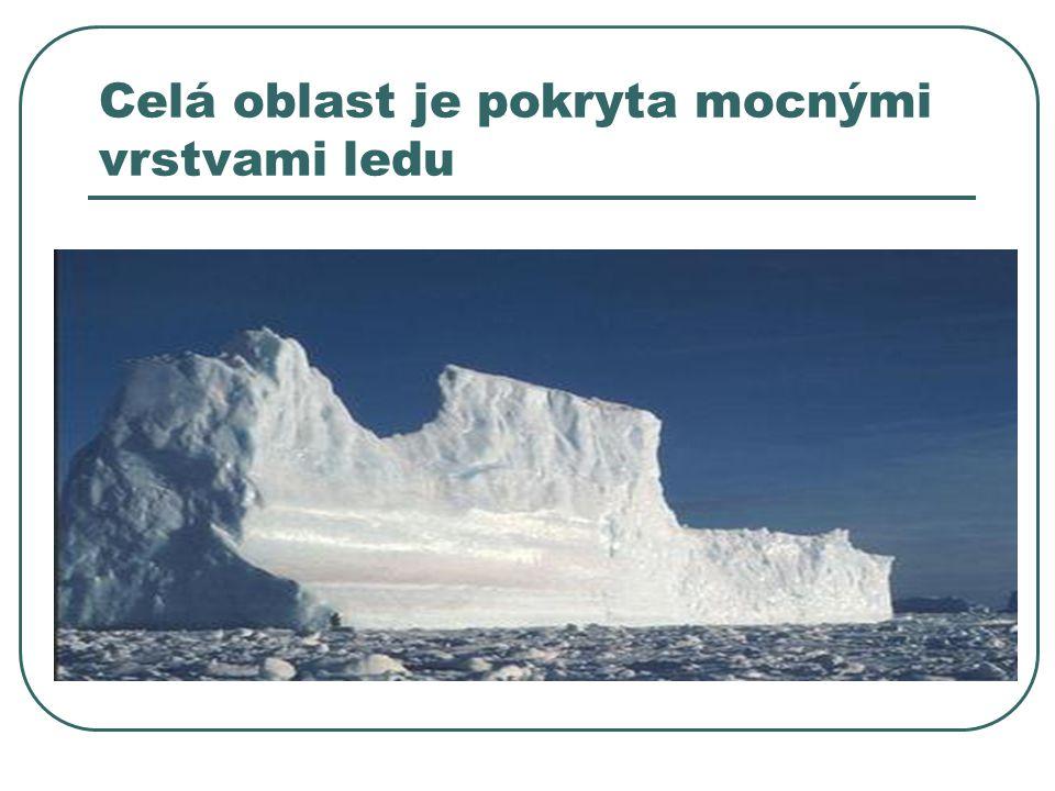 Celá oblast je pokryta mocnými vrstvami ledu