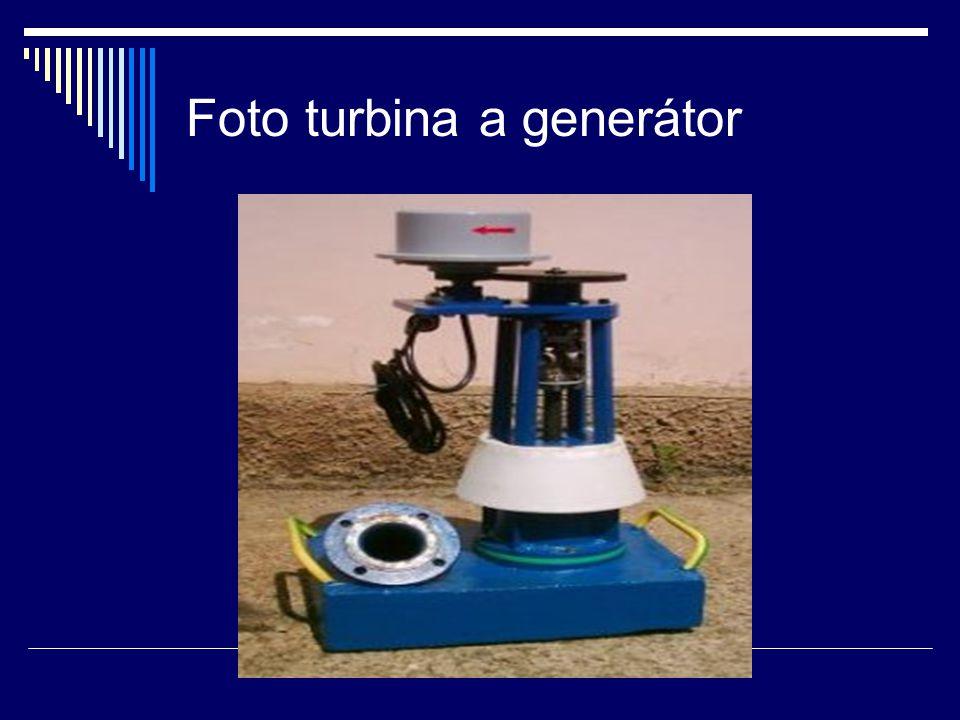 Foto turbina a generátor
