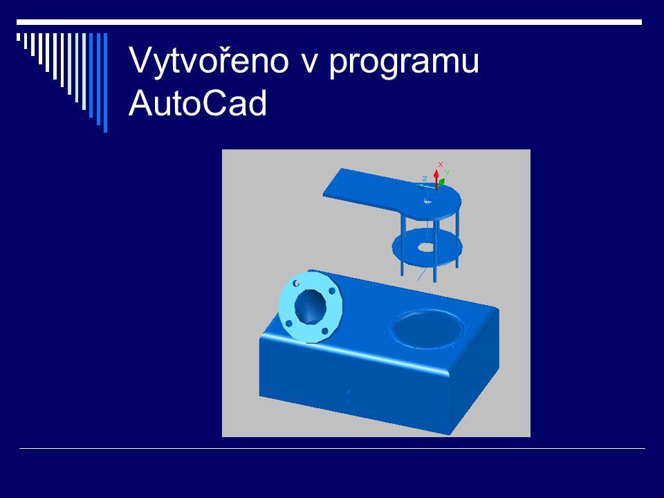 Vytvořeno v programu AutoCad